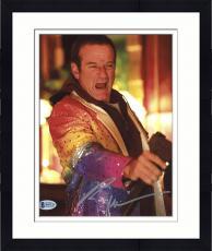 "Framed Robin Williams Autographed 8""x 10"" Death to Smoochy Holding Gun Photograph -  Beckett COA"