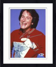 "Framed Robin Williams Autographed 8""x 10"" Mork & Mindy Silver Glove Photograph -  Beckett COA"