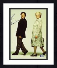 "Framed Robin Williams Autographed 8""x 10"" Mrs.Doubtfire Dressed as Woman & Man Photograph -  PSA/DNA COA"