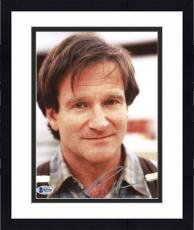 """Framed Robin Williams Autographed 8""""x 10"""" Wearing Suspenders Photograph -  Beckett COA"""