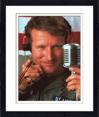 Framed Robin Williams Autographed Good Morning Vietnam  8x10 Photo- SM HOLO