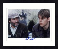 "Framed Robin Williams & Matt Damon Autographed 8""x 10"" Good Will Hunting Photograph - Beckett COA"