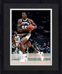 Framed David Robinson Autographed Spurs 16x20 Photo
