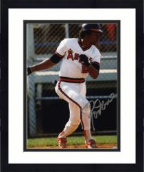 "Framed Rod Carew California Angels Autographed 8"" x 10"" Silver Ink Photograph"