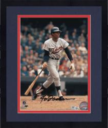 "Framed Rod Carew Minnesota Twins Autographed 8"" x 10"" Batting Photograph"