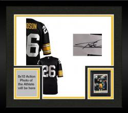 Framed Rod Woodson Pittsburgh Steelers Autographed Black Jersey