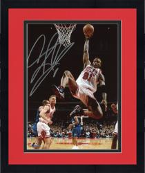 Framed RODMAN, DENNIS AUTO (BULLS/WHITE/REBOUND/VS CHAR) 8X10 PHOTO - Mounted Memories