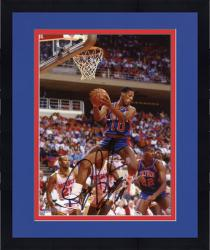 Framed RODMAN, DENNIS AUTO (PISTONS/BLUE/REBOUND) 8X10 PHOTO - Mounted Memories