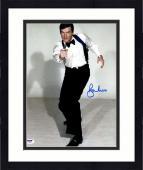 "Framed Roger Moore Autographed 11"" x 14"" James Bond Pointing Gun Pose Photograph - PSA/DNA COA"