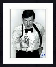 "Framed Roger Moore Autographed 16"" x 20"" James Bond The Man With the Golden Gun Photograph - JSA COA"