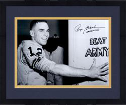 Framed Roger Staubach Navy Midshipmen Autographed 16'' x 20'' Photograph with Heisman 63 Inscription #12 Limited Edition of 12