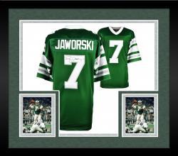 Framed Ron Jaworski Philadelphia Eagles Autographed Green Vintage Jersey