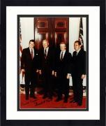 Framed Ronald Reagan  Richard Nixon  Gerald Ford  Jimmy Carter Signed 8x10 Photo JSA
