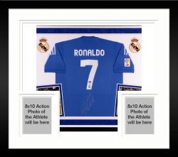 Cristiano Ronaldo Autographed Real Madrid Jersey - Deluxe Framed