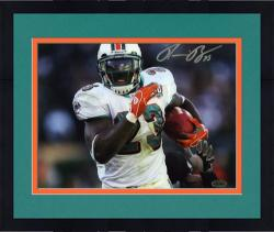 Framed Ronnie Brown Autographed Picture - Miami Dolphins 8x10 Mounted Memories
