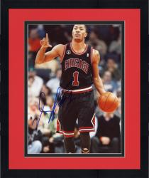 Framed Derrick Rose Autographed Bulls 8x10 Photo