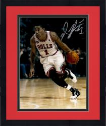 Framed Derrrick Rose Autographed Bulls 11x14 Photo