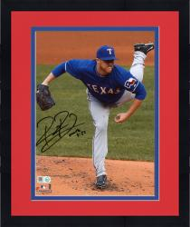 "Framed Robbie Ross Texas Rangers Autographed 8"" x 10"" Pitching Kick Photograph"