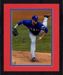 "Framed Robbie Ross Texas Rangers Autographed 16"" x 20"" Pitching Kick Photograph"