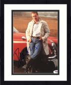 "Framed Russell Crowe Autographed 8""x 10"" Posing in Front of Red Car Photograph - PSA/DNA COA"