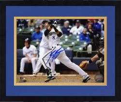 "Framed Ryan Braun Milwaukee Brewers Autographed 8"" x 10"" White Uniform Photograph"