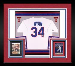 Nolan Ryan Autographed Rangers Jersey - Deluxe Framed