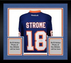 Framed Ryan Strome New York Islanders Autographed Blue Reebok Premier Jersey