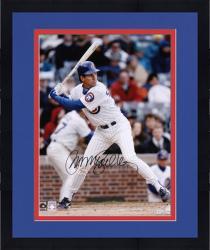 "Framed Ryne Sandberg Chicago Cubs Autographed 16"" x 20"" Batting Photograph"
