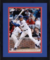 "Framed Ryne Sandberg Chicago Cubs Autographed 16"" x 20"" Batting Photograph"