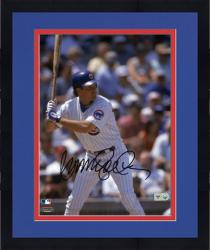 Framed Ryne Sandberg Chicago Cubs Autographed 8'' x 10'' Close Up At Bat Photograph