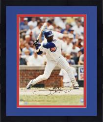 "Framed Sammy Sosa Chicago Cubs Autographed 16"" x 20"" Batting Stance Photograph"