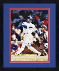 "Framed Sammy Sosa Chicago Cubs Autographed 16"" x 20"" Looking Up Photograph"