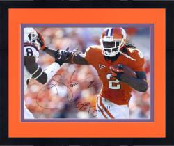 "Framed Sammy Watkins Clemson Tigers Autographed 16"" x 20"" Stiff Arm Photograph with Go Tigers Inscription"