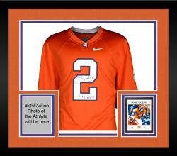 Framed Sammy Watkins Clemson Tigers Autographed Orange Jersey with Go Tigers Inscription