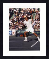 Framed Pete Sampras Autographed 8'' x 10'' Plain White Shirt Photograph