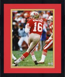 Framed San Francisco Joe Montana 49ers Autographed 16'' x 20'' Photo