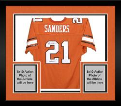 Framed Barry Sanders Oklahoma State Cowboys Signed Jersey - Heisman 88