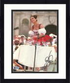 """Framed Sandra Bullock Autographed 8"""" x 10"""" Miss Congeniality Playing with Water Glasses Photograph - Beckett COA"""