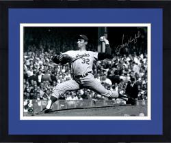 "Framed Sandy Koufax Los Angeles Dodgers Autographed 16"" x 20"" 1963 World Series Game 1 Photograph"