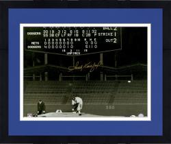 "Framed Sandy Koufax Los Angeles Dodgers Autographed 16"" x 20"" No Hitter Scoreboard Photograph"