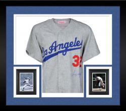 Framed Sandy Koufax Los Angeles Dodgers Autographed Gray Jersey
