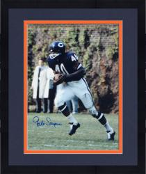 """Framed Gale Sayers Chicago Bears Autographed 16"""" x 20"""" Ball In Both Hands Photograph"""