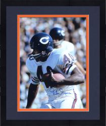 "Framed Gale Sayers Chicago Bears Autographed 16"" x 20"" White Uniform Close Up Photograph"