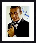 "Framed Sean Connery Autographed 11""x 14"" Goldfinger James Bond Black Gun & Black Tux  Photograph - PSA/DNA LOA"