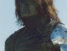 """Framed Sebastian Stan Autographed 8"""" x 10"""" Close Up Photograph - Beckett COA"""