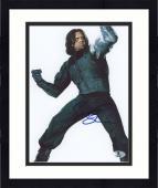 "Framed Sebastian Stan Autographed 8"" x 10"" Fighting Pose Photograph - Beckett COA"