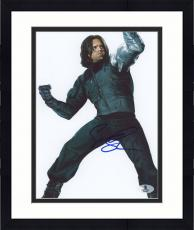 "Framed Sebastian Stan Autographed 8"" x 10"" Fighting Pose Photograph - Beckett COA"