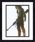"Framed Sebastian Stan Autographed 8"" x 10"" Holding Weapon White Photograph - Beckett COA"