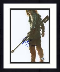"Framed Sebastian Stan Autographed 8"" x 10"" Holding Weapon White Photograph - Beckett COA"