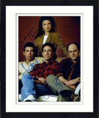 Framed Jerry Seinfeld, Jason Alexander, Julia Louis-Dreyfus Autographed 11'' x 14'' Photograph